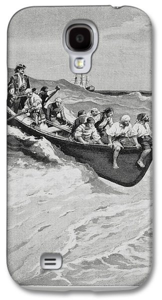 Pirates And Their Captain In A Boat Galaxy S4 Case by British Library