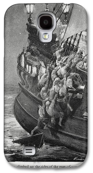 Pirates Boarding A Ship Galaxy S4 Case by British Library