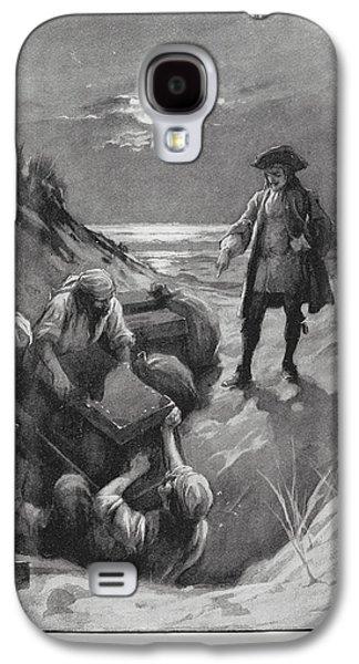 Pirates Burying Treasure Galaxy S4 Case by British Library