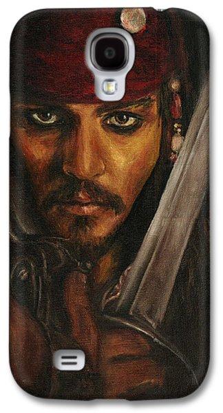 Pirates- Captain Jack Sparrow Galaxy S4 Case by Lina Zolotushko