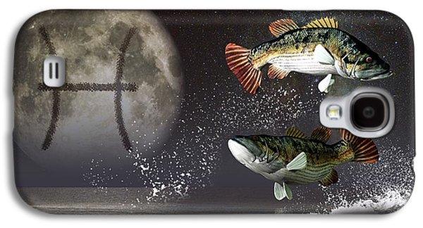 Pisces Zodiac Symbol Galaxy S4 Case by Daniel Eskridge