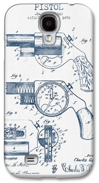 Pistol Patent From 1892 -  Blue Ink Galaxy S4 Case by Aged Pixel