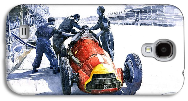 Pit Stop Alfa Romeo158 British Gp 1950 J M Fangio Galaxy S4 Case