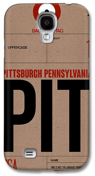 Travel Galaxy S4 Case - Pittsburgh Airport Poster 1 by Naxart Studio