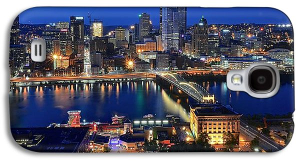 Pittsburgh Blue Hour Panorama Galaxy S4 Case