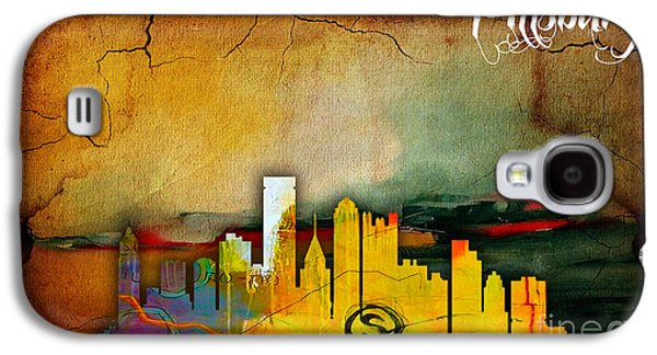 Pittsburgh Skyline Watercolor Galaxy S4 Case by Marvin Blaine