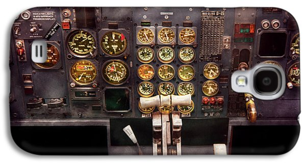 Plane - Cockpit - Boeing 727 - The Controls Are Set Galaxy S4 Case by Mike Savad