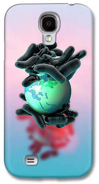 Planet Earth And Bacteria Galaxy S4 Case by Victor Habbick Visions
