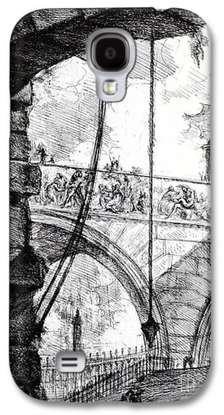 Plate 4 From The Carceri Series Galaxy S4 Case by Giovanni Battista Piranesi