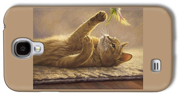 Cat Galaxy S4 Case - Playtime by Lucie Bilodeau
