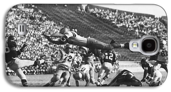 Player Blocks Football Punt Galaxy S4 Case by Underwood Archives