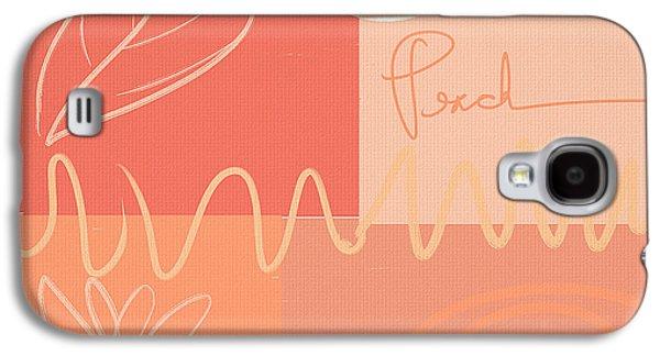 Playful Peach Galaxy S4 Case by Lourry Legarde