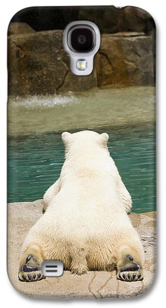Playful Polar Bear Galaxy S4 Case by Adam Romanowicz
