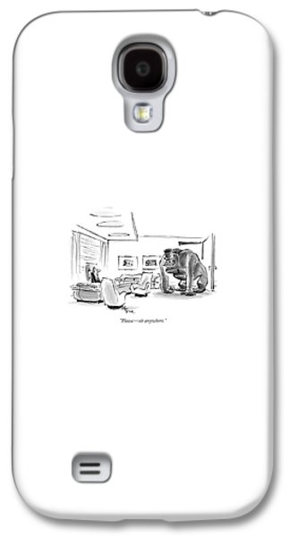 Gorilla Galaxy S4 Case - Please - Sit Anywhere by Lee Lorenz
