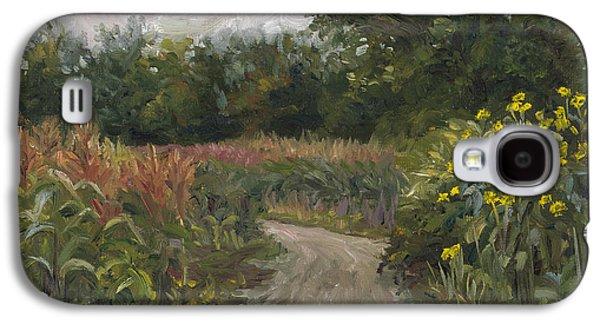 Plein Air - Corn Field Galaxy S4 Case by Lucie Bilodeau