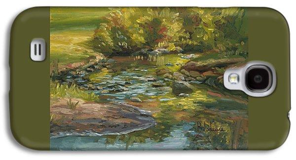 Plein Air - Stream In Forest Park Galaxy S4 Case by Lucie Bilodeau