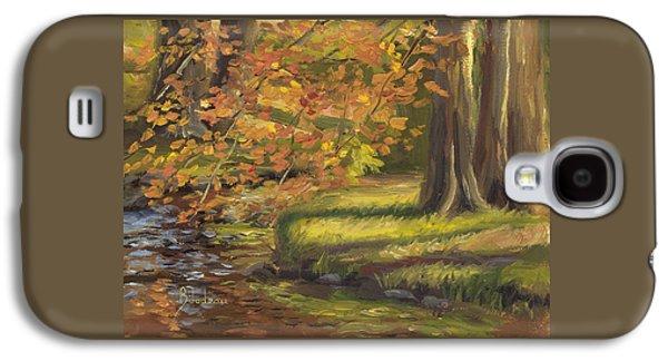 Plein Air - Trees And Stream Galaxy S4 Case by Lucie Bilodeau