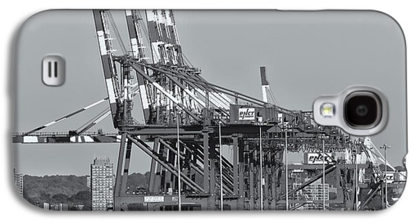Pnct Facility In Port Newark-elizabeth Marine Terminal II Galaxy S4 Case by Clarence Holmes