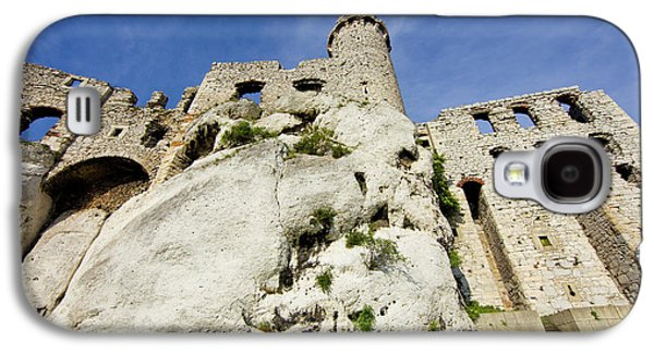 Poland Close-up Of Ogrodzieniec Castle Galaxy S4 Case by Jaynes Gallery