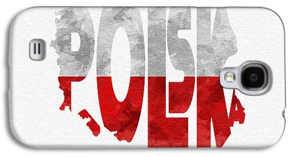 Poland Typographic Map Flag Galaxy S4 Case
