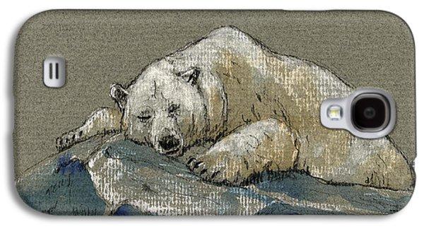 Polar Bear Galaxy S4 Case - Polar Bear Sleeping by Juan  Bosco