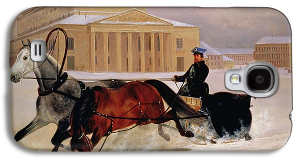 Moscow Galaxy S4 Case - Pole Pair With A Trace Horse At The Bolshoi Theatre In Moscow by Nikolai Egorevich Sverchkov