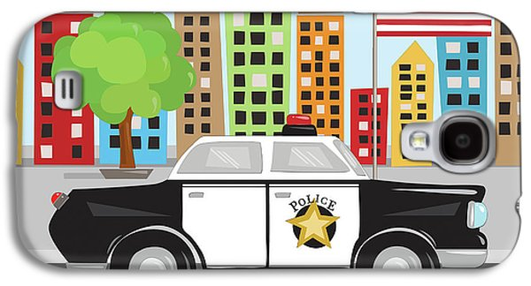 Police Car Galaxy S4 Case by Kathy Middlebrook