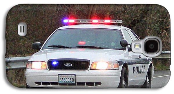 Police Escort Galaxy S4 Case by E Faithe Lester