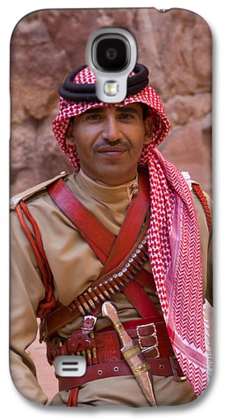 Policeman In Petra Jordan Galaxy S4 Case by David Smith