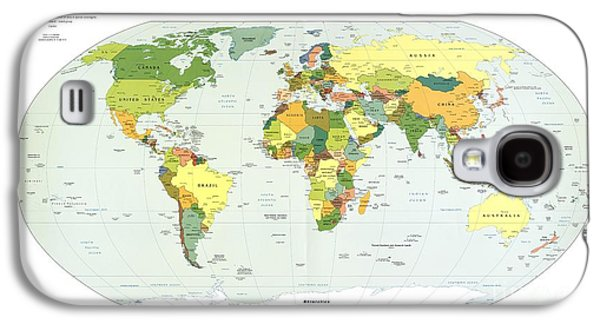 Political Map Of The World, 2012 Galaxy S4 Case by Library Of Congress