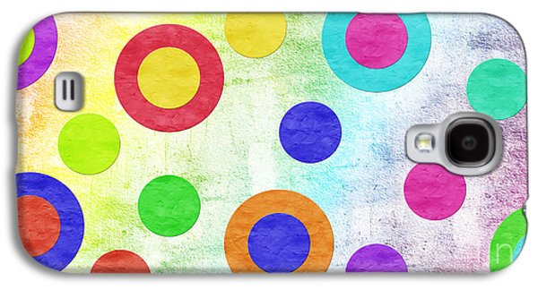 Polka Dot Panorama - Rainbow - Circles - Shapes Galaxy S4 Case