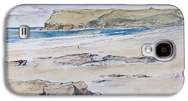 Polzeath And Pentire Head Galaxy S4 Case by Caroline Hervey-Bathurst