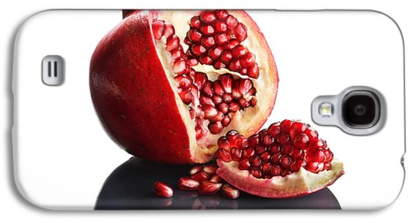 Pomegranate Opened Up On Reflective Surface Galaxy S4 Case by Johan Swanepoel