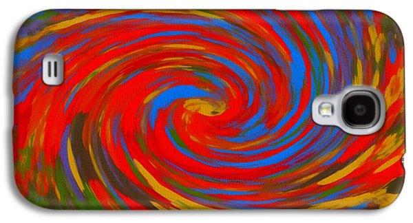 Pop Art Color Swirl Galaxy S4 Case by Dan Sproul