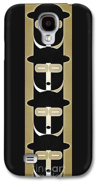Pop Art People Totem 5 Galaxy S4 Case by Edward Fielding