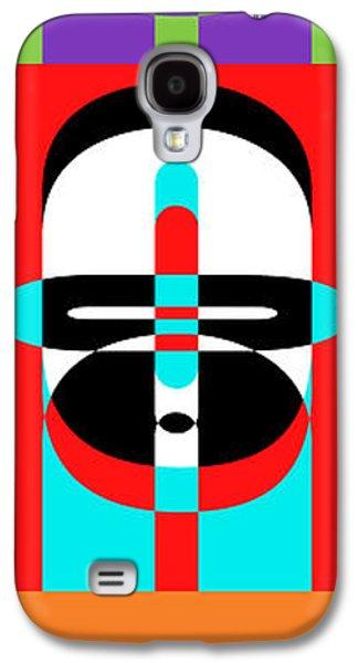 Pop Art People Totem Galaxy S4 Case by Edward Fielding