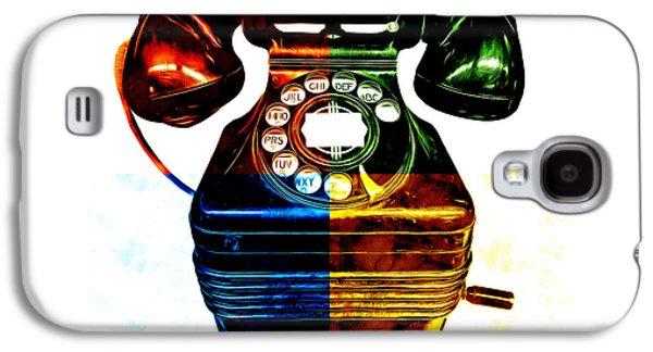 Pop Art Vintage Telephone 4 Galaxy S4 Case by Edward Fielding