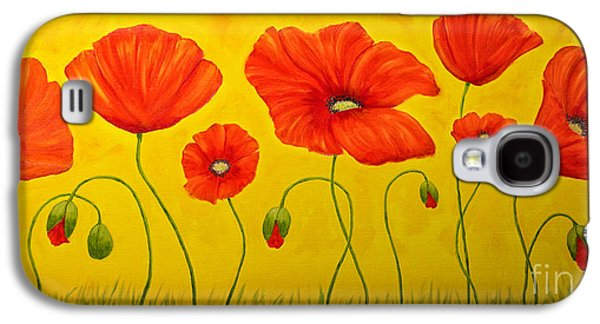 Poppies At The Time Of Galaxy S4 Case by Veikko Suikkanen