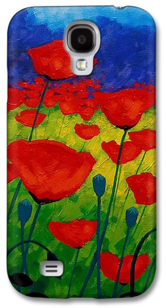 Poppy Corner II Galaxy S4 Case by John  Nolan