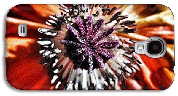 Poppy - Macro Fine Art Photography Galaxy S4 Case by Marianna Mills