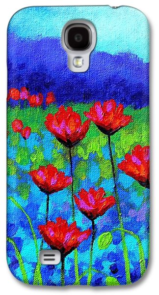 Poppy Study Galaxy S4 Case by John  Nolan