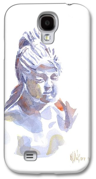 Porcelain Maiden In Watercolor Galaxy S4 Case by Kip DeVore