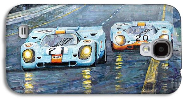 Car Galaxy S4 Case - Porsche 917 K Gulf Spa Francorchamps 1971 by Yuriy Shevchuk