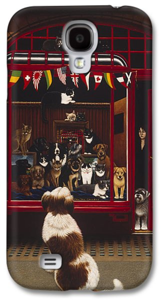 Portal Pet Show, 1993 Oils & Tempera On Panel Galaxy S4 Case by Frances Broomfield