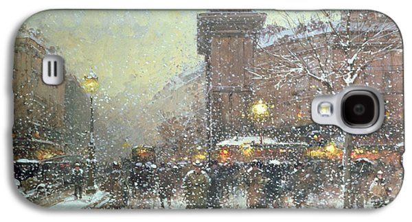 Porte St Martin In Paris Galaxy S4 Case by Eugene Galien Laloue