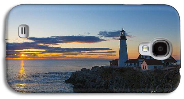 Portland Head Light At Sunrise Galaxy S4 Case by Diane Diederich