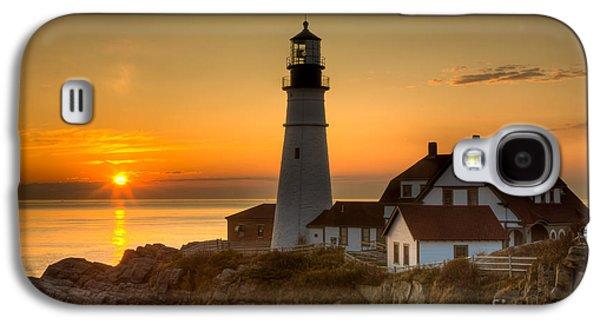 Portland Head Light At Sunrise II Galaxy S4 Case