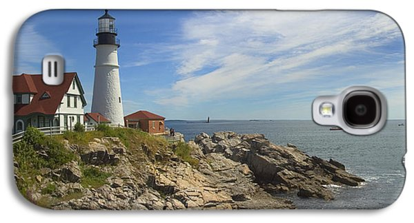 Portland Head Lighthouse Panoramic Galaxy S4 Case by Mike McGlothlen