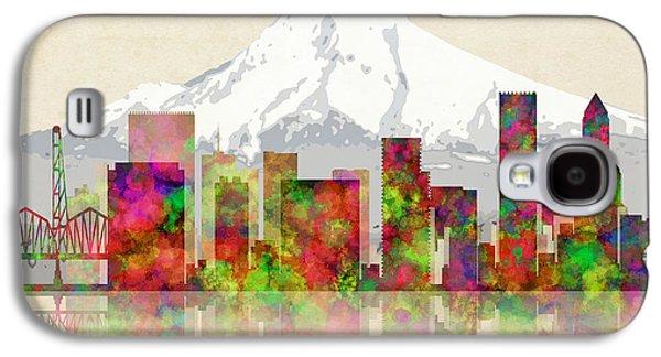 Portland Oregon Skyline Galaxy S4 Case by Daniel Hagerman