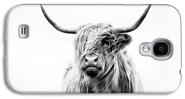 Portrait Of A Highland Cow Galaxy S4 Case by Dorit Fuhg